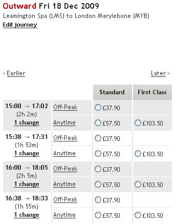 Virgin Trains ticket prices